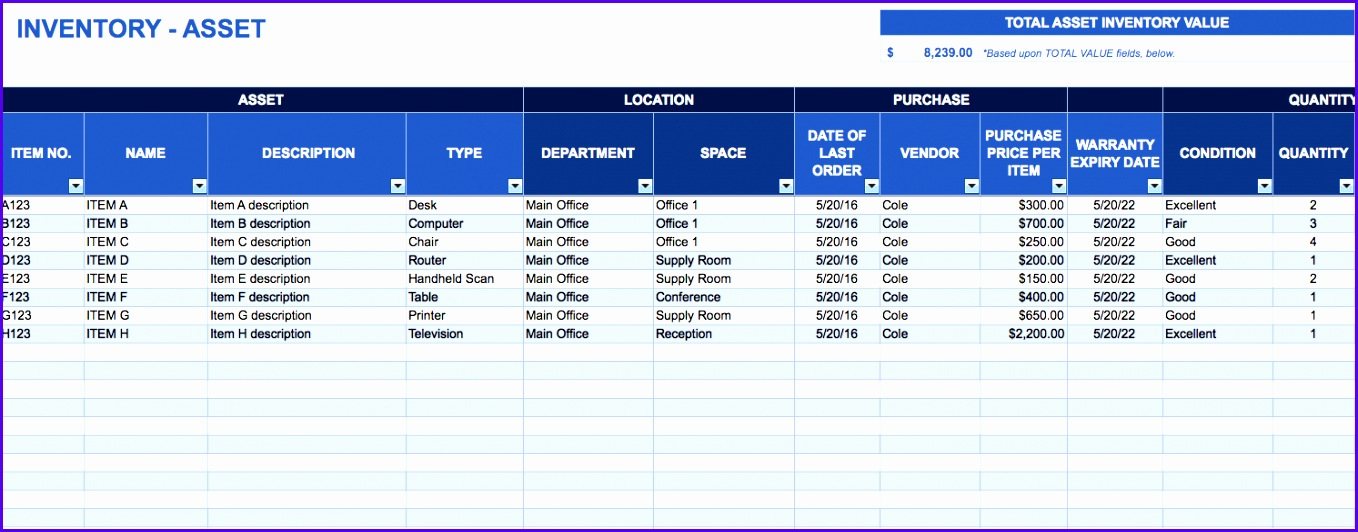 Asset Tracking Template Download Excel Template 1358532