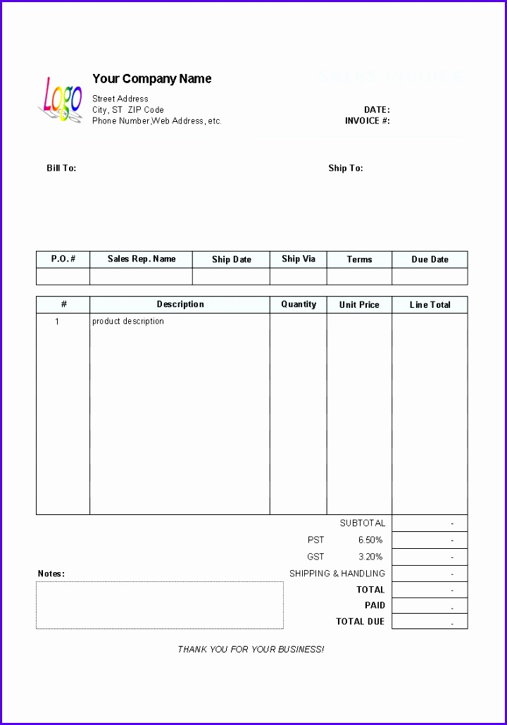 9 microsoft excel invoice template free download. Black Bedroom Furniture Sets. Home Design Ideas