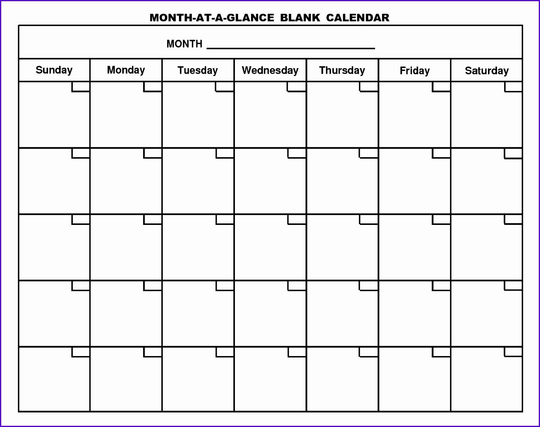 Monthly Calendar Template 13701084