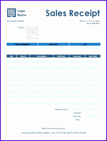 Sales receipt Simple Blue design 420552