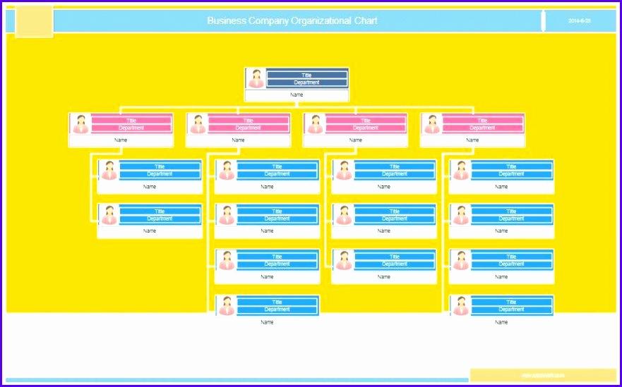 Printable Organizational Chart Template 22 881549