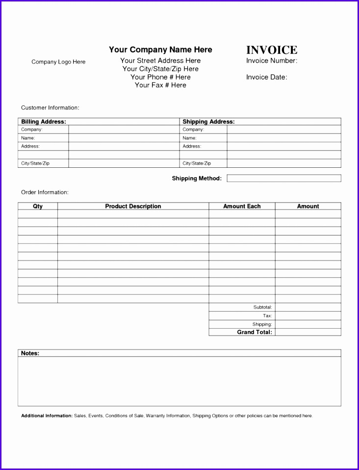 Download Sales Invoice Template Excel Free Uk Word Proforma 732958
