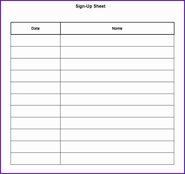 Event Sign In Sheet Template  OloschurchtpCom