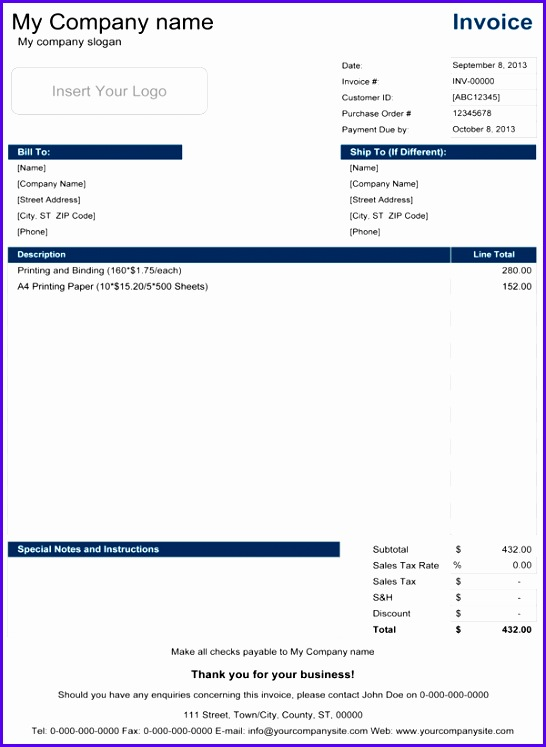 Simple Invoice Template 546747