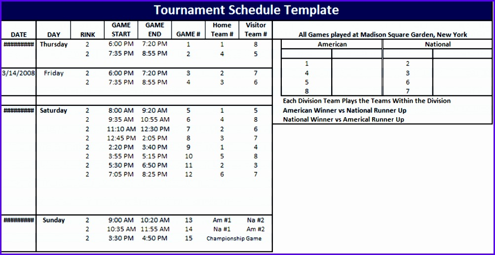 sample tournament template excel ucnhg elegant league schedule