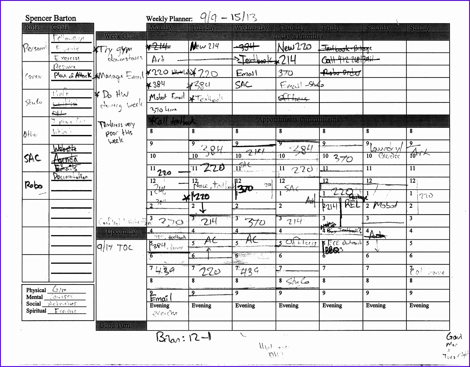 Sample Week Planner Template Excel Bvibk Fresh Stephen Covey Weekly Planner Template Excel 17431347