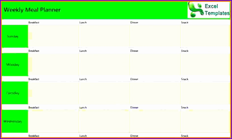 Sample Weekly Excel Template Bbu1j Fresh 8 Weekly Planner Template Excel 1040620