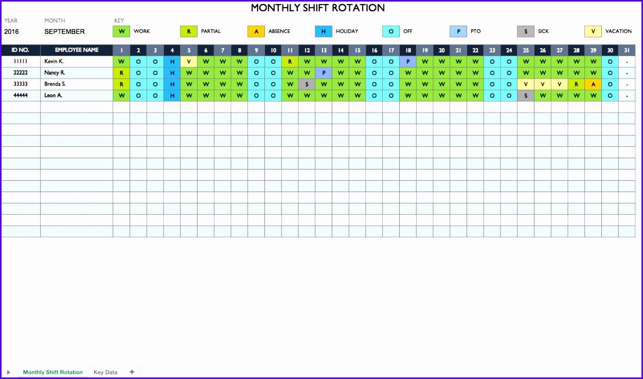 Work Rotation Schedule 1250738
