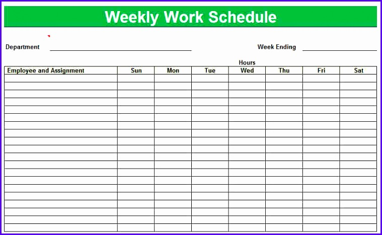 Sample Weekly Work Schedule Template Excel Mdwhd Fresh Weekly Work Schedule Template Excel Blank Printable Weekly Schedules 835508