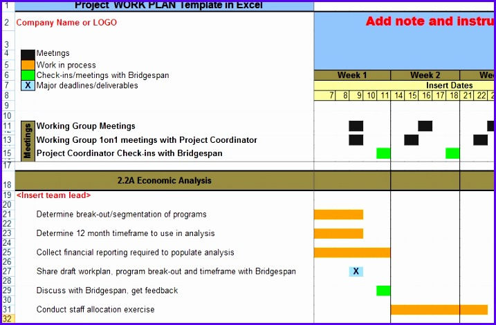 Project Work Plan Template in Excel XLS Microsoft Excel Templates 717471