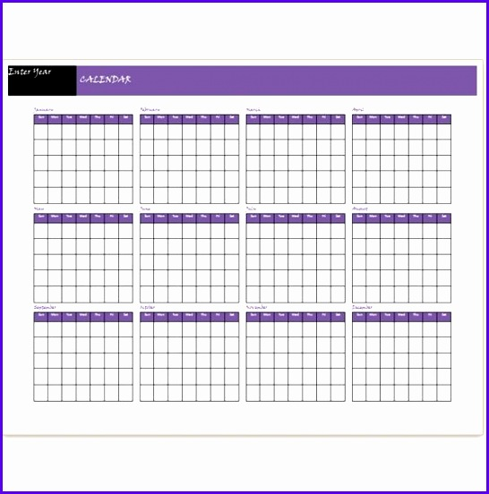 Blank Yearly Calendar Template 2015 546552